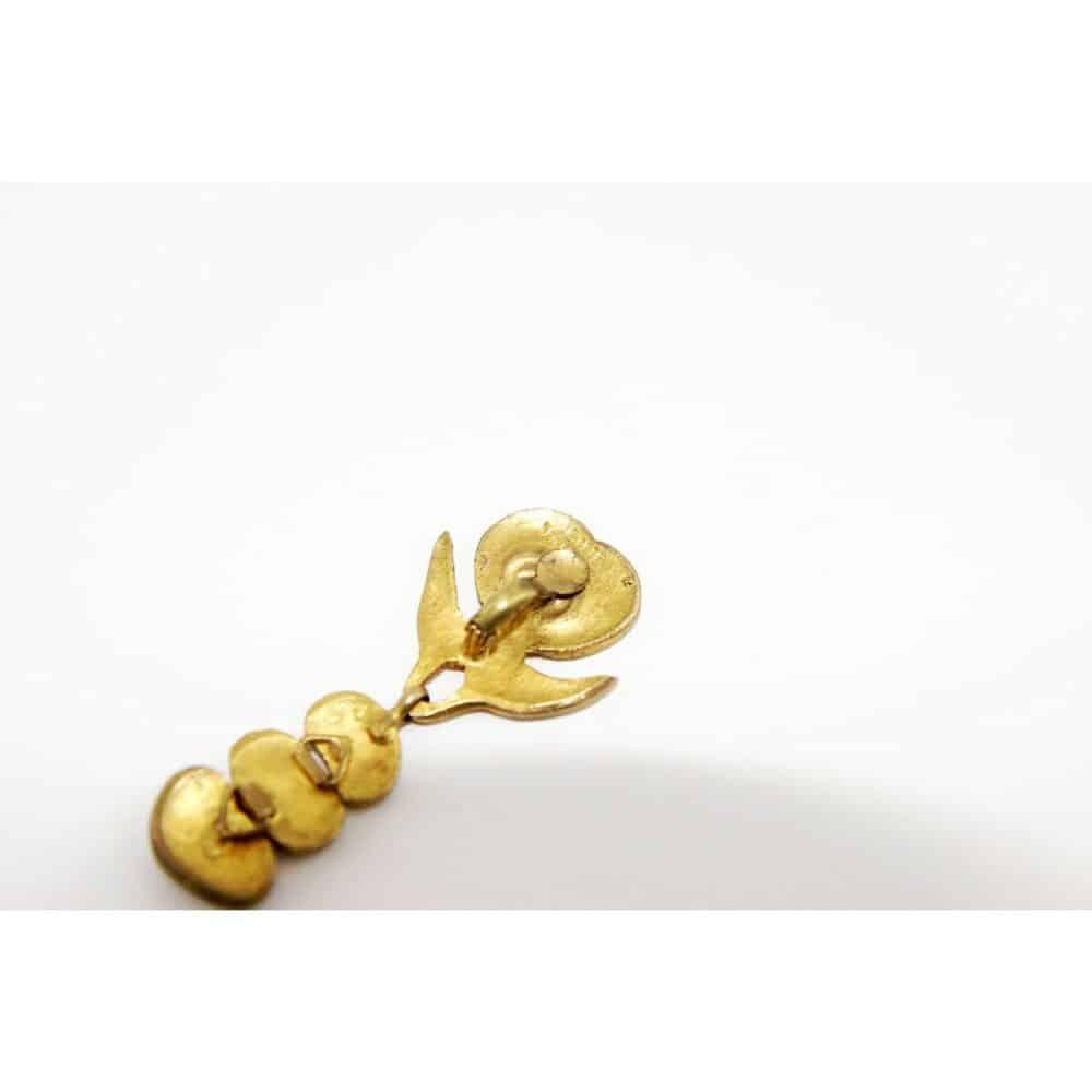 Line Vautrin 'L'oiseau de l'Ile de Pâques' Earrings c.1945