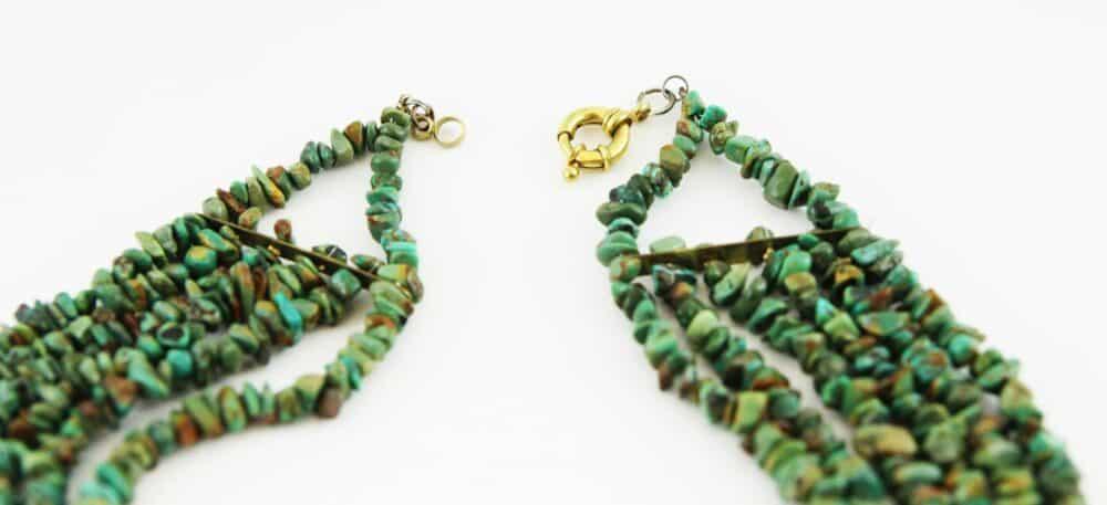 Unique Turquoise & Coral Necklace Belgian Artist c.1990