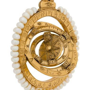 YSL Rock crystal zodiac pendant by Robert Goossens 80s