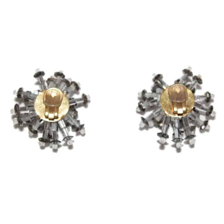 GLAMOUR 60S COLLECTABLE COPPOLA E TOPPO VINTAGE FLOWER EARRINGS