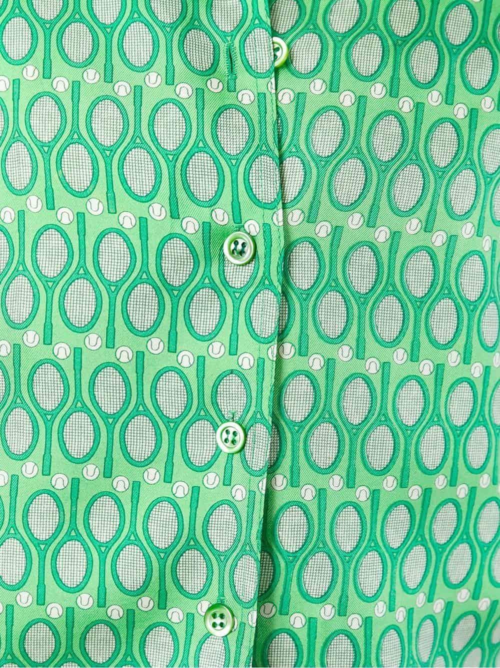 Hermès Fun & collectable Tennis silk shirt 70s