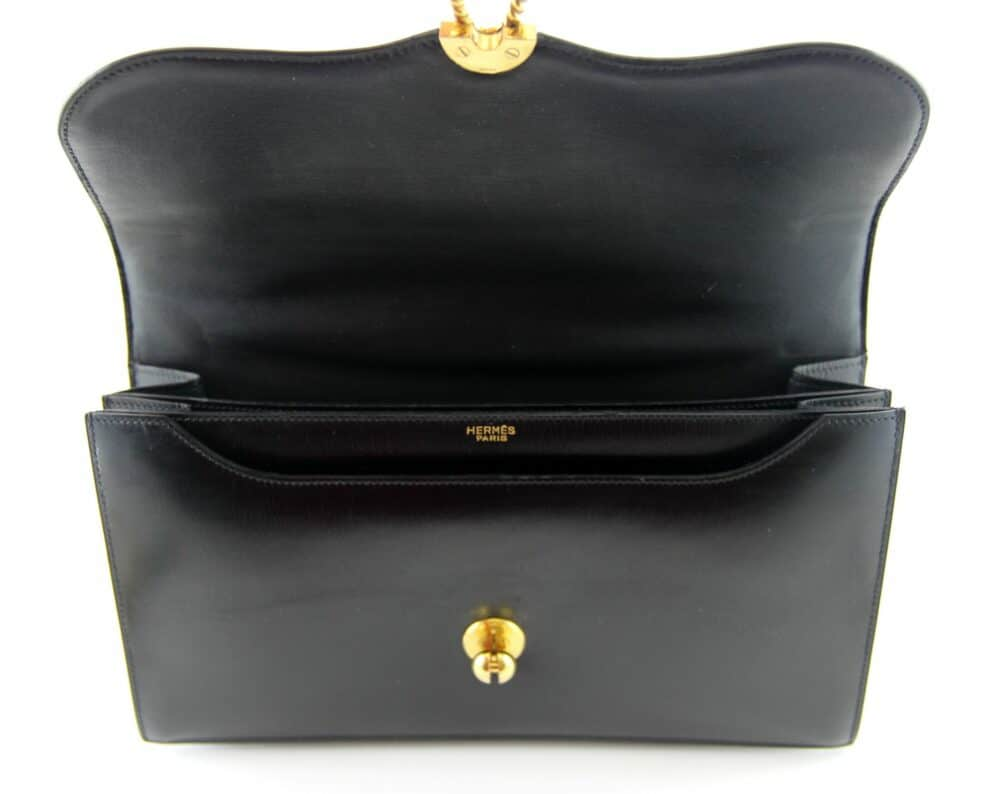 Hermès Escale Black box vintage bag 60s