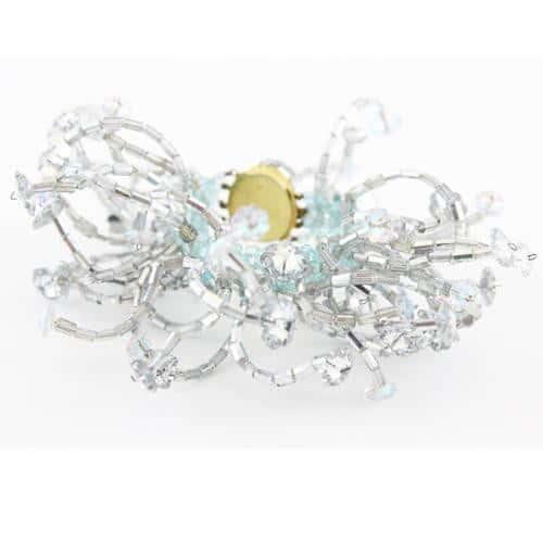 Coppola e Toppo exceptional three-dimensional Marguerite crystal cuff 60s