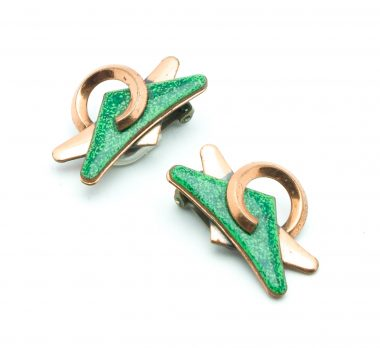 13-Matisse-green-enamel-copper-vintage-50s-earrings-clip-on-personal-shopper-vip-katheleys-2 (2)