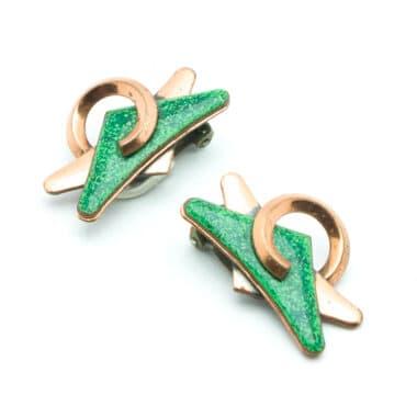 13-Matisse-green-enamel-copper-vintage-50s-earrings-clip-on-personal-shopper-vip-katheleys-2 (2)