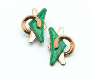 13-Matisse-green-enamel-copper-vintage-50s-earrings-clip-on-personal-shopper-vip-katheleys-2 (3)