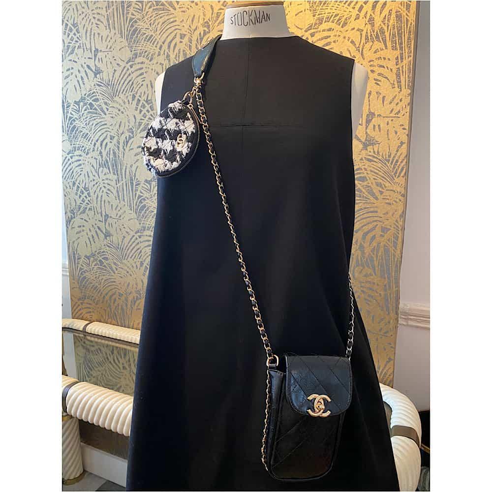 Alaïa Vintage Black Leather Pencil Skirt - Amarcord